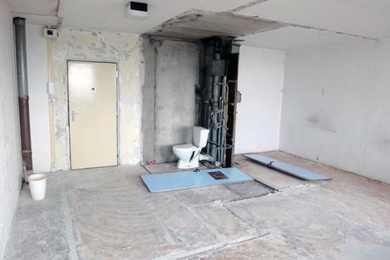 Rekonstrukce garsoniéry - Po bouracích pracích