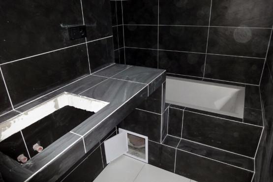Rekonstrukce garsoniéry - Koupelna v průběhu